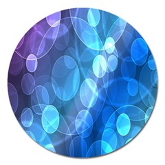 Circle Blue Purple Magnet 5  (round) by Alisyart