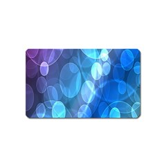 Circle Blue Purple Magnet (Name Card) by Alisyart