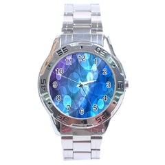 Circle Blue Purple Stainless Steel Analogue Watch by Alisyart