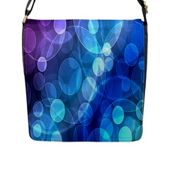 Circle Blue Purple Flap Messenger Bag (l)  by Alisyart
