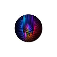 Bird Feathers Rainbow Color Pink Purple Blue Orange Gold Golf Ball Marker (10 Pack) by Alisyart
