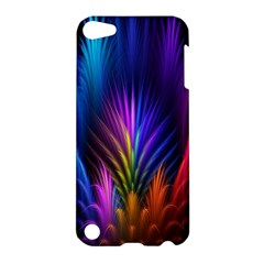 Bird Feathers Rainbow Color Pink Purple Blue Orange Gold Apple Ipod Touch 5 Hardshell Case by Alisyart