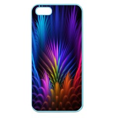 Bird Feathers Rainbow Color Pink Purple Blue Orange Gold Apple Seamless Iphone 5 Case (color) by Alisyart