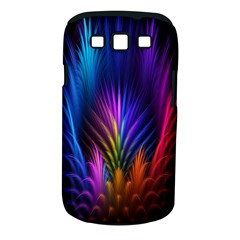 Bird Feathers Rainbow Color Pink Purple Blue Orange Gold Samsung Galaxy S Iii Classic Hardshell Case (pc+silicone)