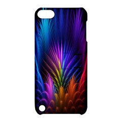 Bird Feathers Rainbow Color Pink Purple Blue Orange Gold Apple Ipod Touch 5 Hardshell Case With Stand by Alisyart