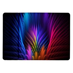 Bird Feathers Rainbow Color Pink Purple Blue Orange Gold Samsung Galaxy Tab 10 1  P7500 Flip Case by Alisyart