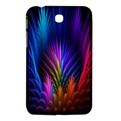 Bird Feathers Rainbow Color Pink Purple Blue Orange Gold Samsung Galaxy Tab 3 (7 ) P3200 Hardshell Case  by Alisyart