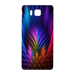 Bird Feathers Rainbow Color Pink Purple Blue Orange Gold Samsung Galaxy Alpha Hardshell Back Case by Alisyart