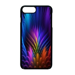 Bird Feathers Rainbow Color Pink Purple Blue Orange Gold Apple Iphone 7 Plus Seamless Case (black)