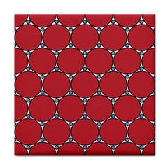 Circle Red Purple Tile Coasters