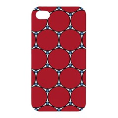 Circle Red Purple Apple Iphone 4/4s Premium Hardshell Case by Alisyart