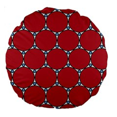 Circle Red Purple Large 18  Premium Round Cushions by Alisyart
