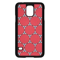 Circle Red Purple Samsung Galaxy S5 Case (black) by Alisyart