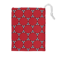Circle Red Purple Drawstring Pouches (extra Large) by Alisyart