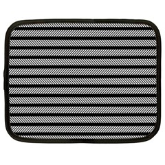 Black White Line Fabric Netbook Case (xxl)  by Alisyart