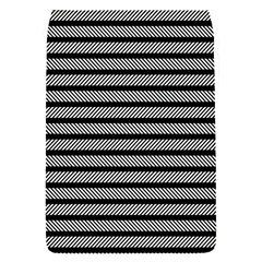 Black White Line Fabric Flap Covers (s)  by Alisyart