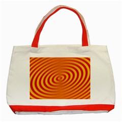 Circle Line Orange Hole Hypnotism Classic Tote Bag (red) by Alisyart