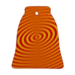 Circle Line Orange Hole Hypnotism Ornament (bell) by Alisyart