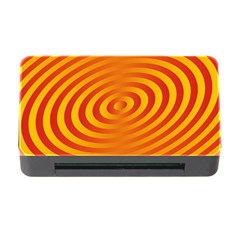 Circle Line Orange Hole Hypnotism Memory Card Reader With Cf by Alisyart