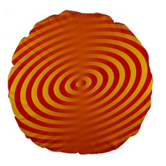 Circle Line Orange Hole Hypnotism Large 18  Premium Round Cushions by Alisyart
