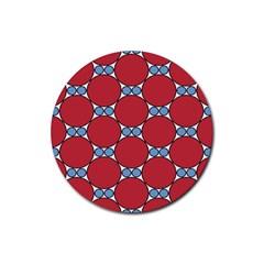 Circle Blue Purple Big Small Rubber Round Coaster (4 Pack)  by Alisyart