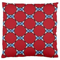 Circle Blue Purple Big Small Large Flano Cushion Case (two Sides) by Alisyart