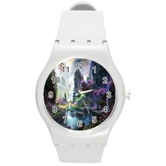 Fantastic World Fantasy Painting Round Plastic Sport Watch (m) by Onesevenart