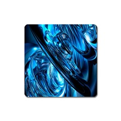 Blue Wave Square Magnet