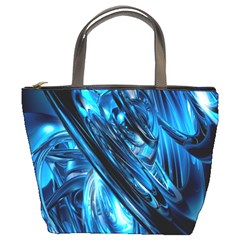 Blue Wave Bucket Bags