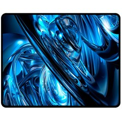 Blue Wave Fleece Blanket (medium)  by Alisyart