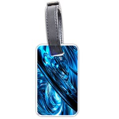 Blue Wave Luggage Tags (one Side)  by Alisyart