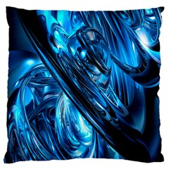 Blue Wave Standard Flano Cushion Case (two Sides) by Alisyart