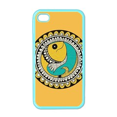Madhubani Fish Indian Ethnic Pattern Apple Iphone 4 Case (color) by Onesevenart