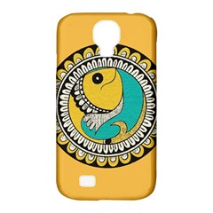 Madhubani Fish Indian Ethnic Pattern Samsung Galaxy S4 Classic Hardshell Case (pc+silicone) by Onesevenart