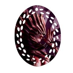Fantasy Art Legend Of The Five Rings Steve Argyle Fantasy Girls Oval Filigree Ornament (two Sides) by Onesevenart