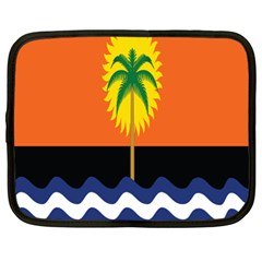 Coconut Tree Wave Water Sun Sea Orange Blue White Yellow Green Netbook Case (xl)  by Alisyart