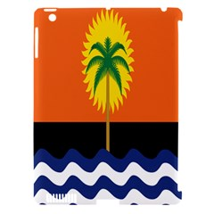 Coconut Tree Wave Water Sun Sea Orange Blue White Yellow Green Apple Ipad 3/4 Hardshell Case (compatible With Smart Cover)