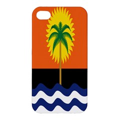 Coconut Tree Wave Water Sun Sea Orange Blue White Yellow Green Apple Iphone 4/4s Premium Hardshell Case