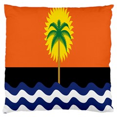 Coconut Tree Wave Water Sun Sea Orange Blue White Yellow Green Large Cushion Case (two Sides)