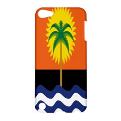 Coconut Tree Wave Water Sun Sea Orange Blue White Yellow Green Apple Ipod Touch 5 Hardshell Case
