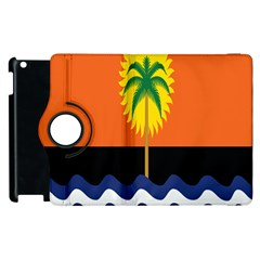 Coconut Tree Wave Water Sun Sea Orange Blue White Yellow Green Apple Ipad 3/4 Flip 360 Case by Alisyart