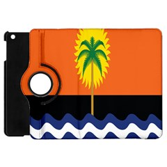 Coconut Tree Wave Water Sun Sea Orange Blue White Yellow Green Apple Ipad Mini Flip 360 Case by Alisyart