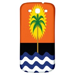 Coconut Tree Wave Water Sun Sea Orange Blue White Yellow Green Samsung Galaxy S3 S Iii Classic Hardshell Back Case by Alisyart