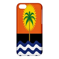 Coconut Tree Wave Water Sun Sea Orange Blue White Yellow Green Apple Iphone 5c Hardshell Case by Alisyart