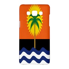 Coconut Tree Wave Water Sun Sea Orange Blue White Yellow Green Samsung Galaxy A5 Hardshell Case  by Alisyart
