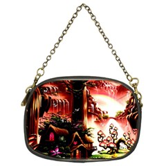 Fantasy Art Story Lodge Girl Rabbits Flowers Chain Purses (two Sides)  by Onesevenart