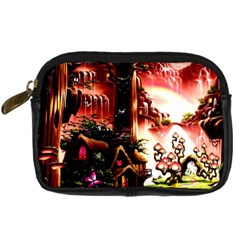 Fantasy Art Story Lodge Girl Rabbits Flowers Digital Camera Cases by Onesevenart