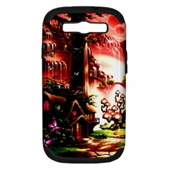 Fantasy Art Story Lodge Girl Rabbits Flowers Samsung Galaxy S Iii Hardshell Case (pc+silicone) by Onesevenart
