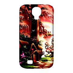 Fantasy Art Story Lodge Girl Rabbits Flowers Samsung Galaxy S4 Classic Hardshell Case (pc+silicone) by Onesevenart