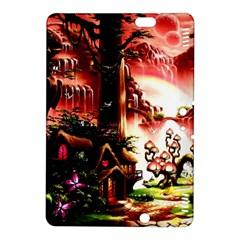 Fantasy Art Story Lodge Girl Rabbits Flowers Kindle Fire Hdx 8 9  Hardshell Case by Onesevenart